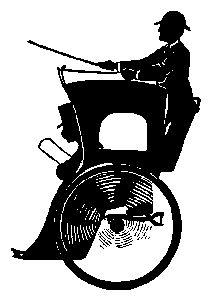 Hansom cab clipart