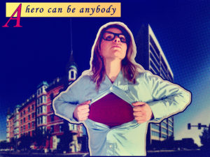 Nerdy girl superhero