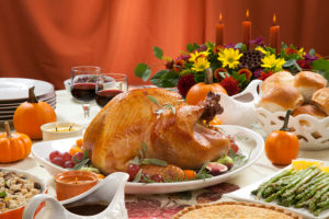 Roasted Turkey On Harvest Table - c. evgenyb