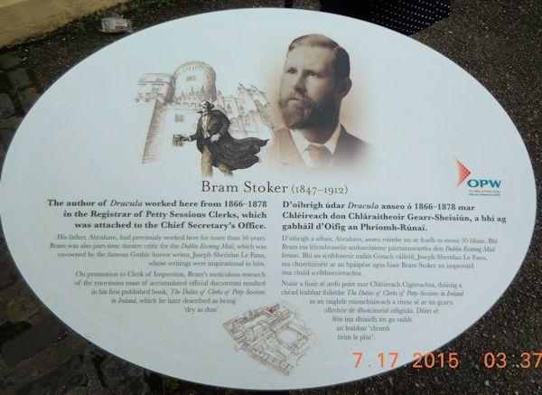 Bram Stoker Plaque