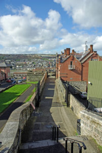 Part of the walls which surround the city of Derry
