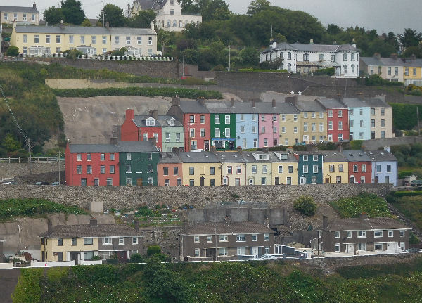 colorful Cobh houses