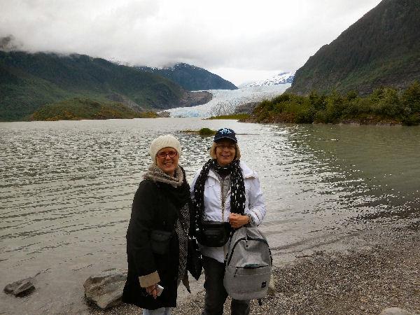 Linda and Jann at glacier