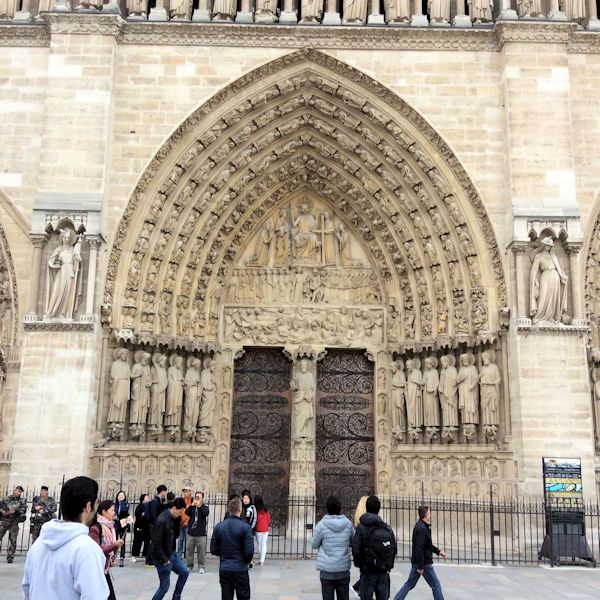 doorway at Notre Dame