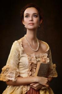 Georgian Lady with Book