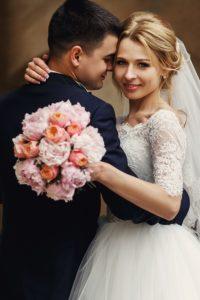Happy sensual wedding